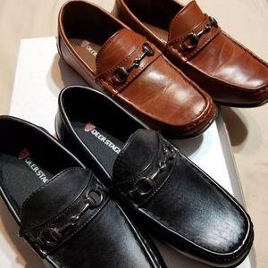 Deer Stags Dress Shoe2 Pairs Black & Brown Loafers